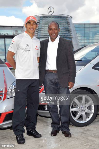 World Champion Lewis Hamilton and Father Anthony Hamilton launch the first MercedesBenz Driving Academy at MercedesBenz World on June 13 2009 in...