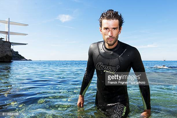World champion snorkeler Guillaume Nery is photographed for Le Figaro Magazine on June 10 2016 in Nice France PUBLISHED IMAGE CREDIT MUST READ Franck...