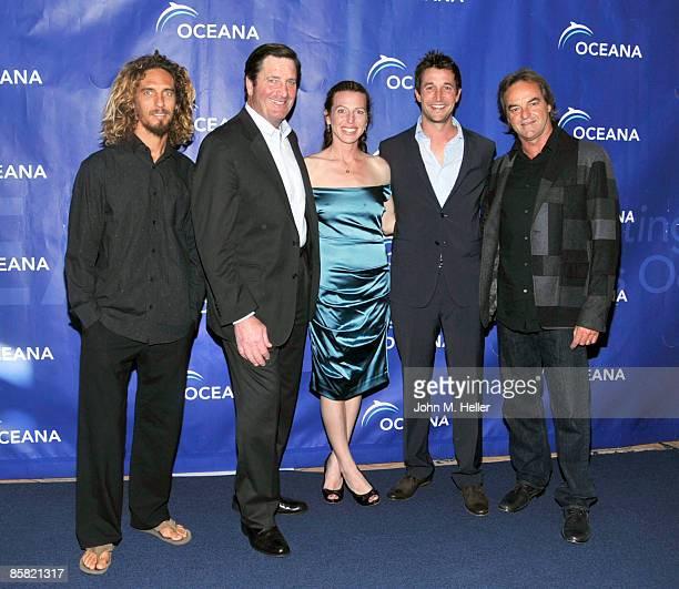World Champion Surfer Rob Machado Lieutenant Governor John Garamendi actor Tanna Frederick actor Noah Wyle and Paul Naude recipient of the Oceana Sea...
