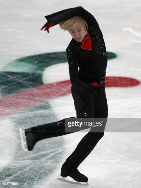 World champion Yevgeny Plushenko of Russia performs in the freeskating event at the ISU Grand Prix final in Beijing 18 December 2004 Plushenko the...