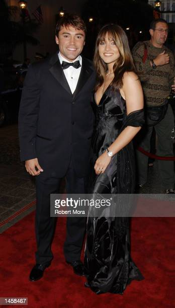 World Championship Featherweight Boxer Oscar De La Hoya and wife Millie Corretjer attend his Evening Of Champions Award Gala at the Regent Beverly...