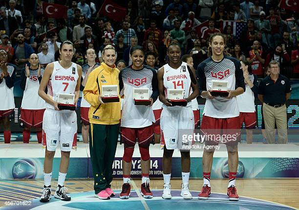 World Championship for Women AllStar Five Alba Torrens of Spain Penny Taylor of Australia Maya Moore of USA Sancho Lyttle of Spain ESP and Brittney...