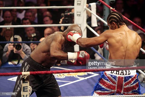 World Championship light and heavyweight Jean Marc Mormeck and David Haye in Levallois France on November 10th 2007