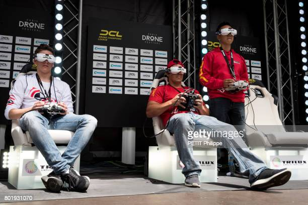 World championship of drones Pilotes from all over the world take part in the Paris drones Festival in Paris on June 4 2017