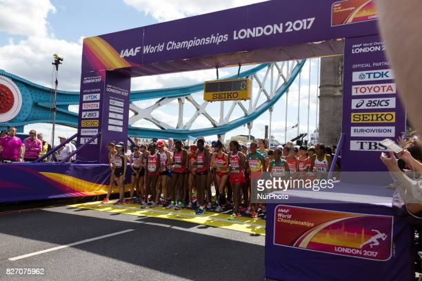 World Championships Women Marathon in London UK on August 6 2017 42 kilometre run took place in most picturesque streets of London and attracted...