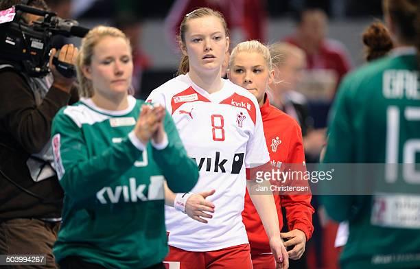 World Championships Womens Handball Serbia vs. Denmark - Skuffede danskere efter nederlag til Serbien - Anne Mette HANSEN, Danmark / Denmark. © Jan...