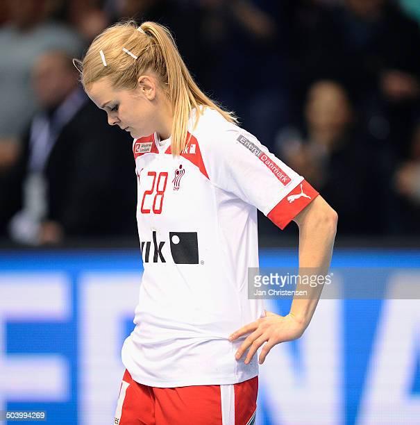 World Championships Womens Handball Serbia vs. Denmark - Skuffede danskere efter nederlag til Serbien - Stine JØRGENSEN, Danmark / Denmark. © Jan...
