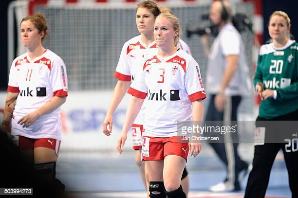 World Championships Womens Handball Serbia vs. Denmark - Skuffede danskere efter nederlag til Serbien - Maibritt KVIESGAARD, Danmark / Denmark. © Jan...