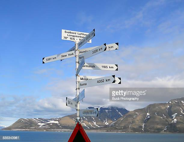 World Cities directions at the Polar Arctic Circle