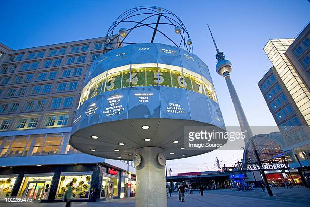 World clock in alexanderplatz berlin