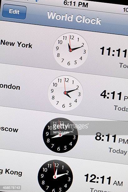 World Clock on iPhone 4 Screen