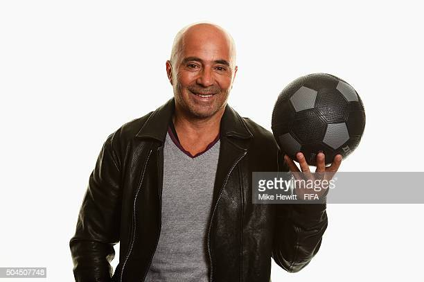 World Coach of the Year for Men's Football nominee and Chile Coach Jorge Sampaoli of Argentina poses for a portrait prior to the FIFA Ballon d'Or...