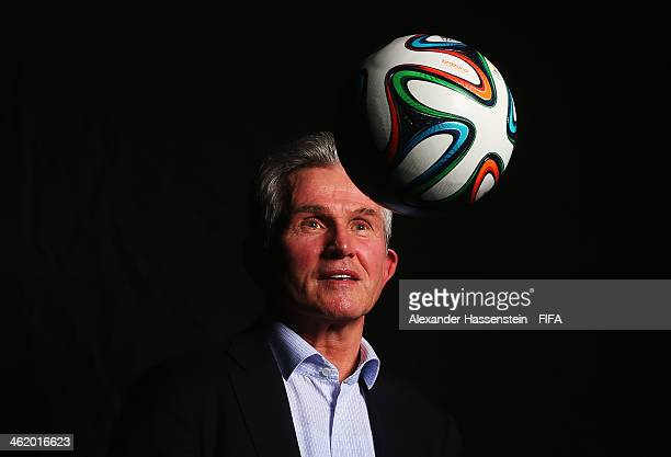 World Coach of the Year for Men's Football nominee and former manager of Bayern Munich Jupp Heynckes of Germany poses for a portrait prior to the...