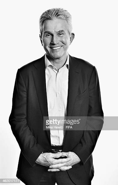 FIFA World Coach of the Year for Men's Football nominee and former manager of Bayern Munich Jupp Heynckes of Germany poses for a portrait prior to...
