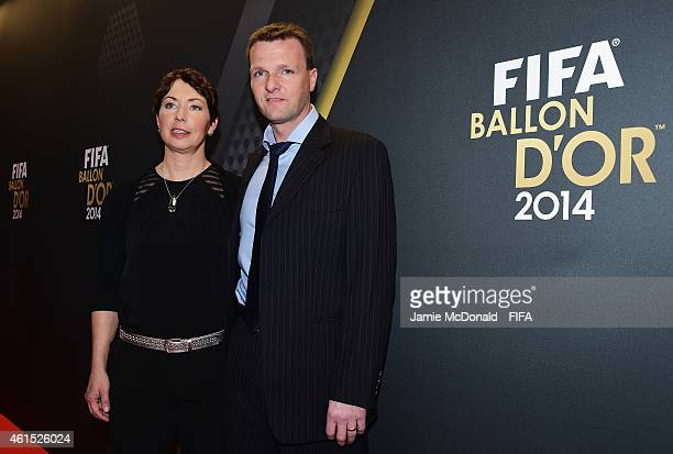 World Coach of the Year for Women's Football nominee Maren Meinert of Germany and guest arrive for the FIFA Ballon d'Or Gala 2014 at the Kongresshaus...