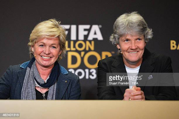 World Coach of the Year for Women's Football nominees and manager of the Germany women's team Silvia Neid and manager of the Sweden women's team Pia...