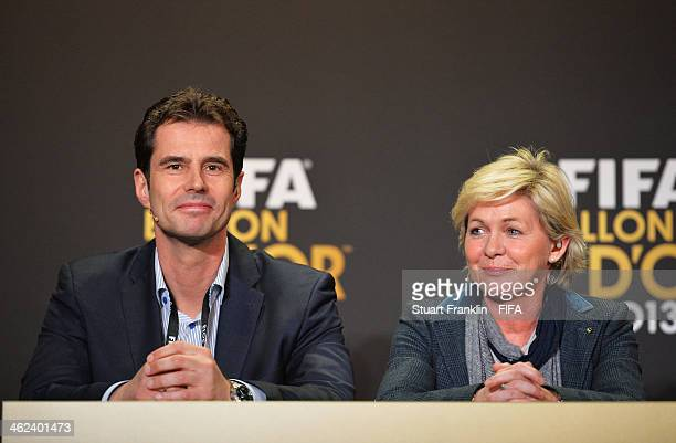 World Coach of the Year for Women's Football nominees and manager of VfL Wolfsburg Ralf Kellermann of Germany and manager of the Germany women's team...