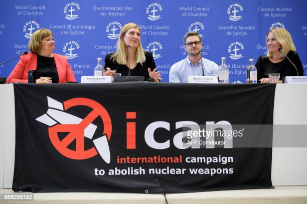 World Council of Churches spokeswoman Marianne Ejdersten Nuclear disarmament group International Campaign to Abolish Nuclear Weapons executive...