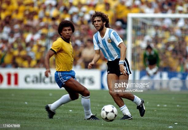 World Cup 1982 Argentina v Brazil Alberto Tarantini
