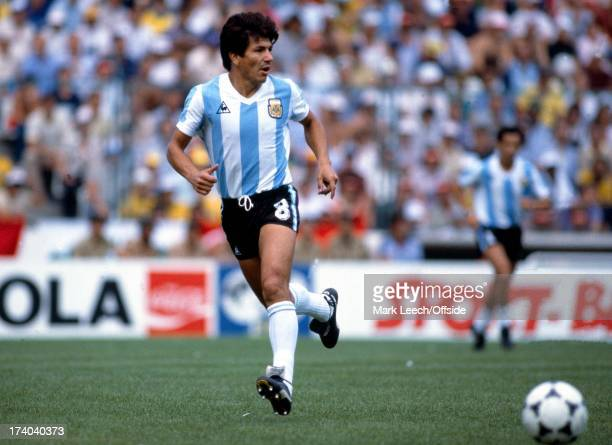 World Cup 1982 Argentina v Brazil Galvin passes the ball