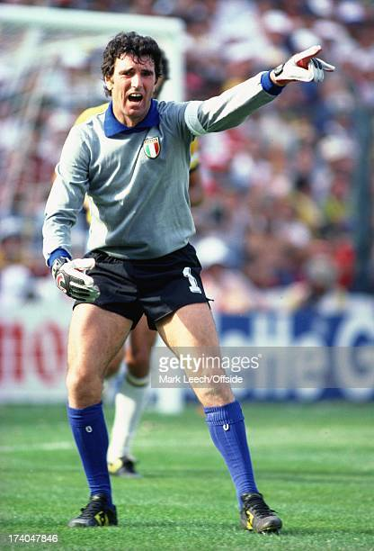 World Cup 1982 Italy v Brazil Dino Zoff shouts out his instructions