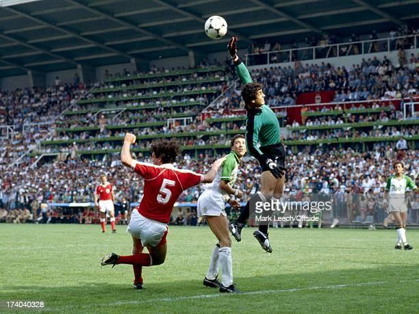 World Cup 1982 Spain Algeria v Austria Mehdi Cerbah saves from Bruno Pezzey