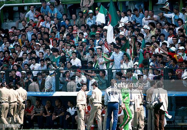 World Cup 1982 Spain Algeria v Austria Upset Algerian fans make themselves heard from the stands