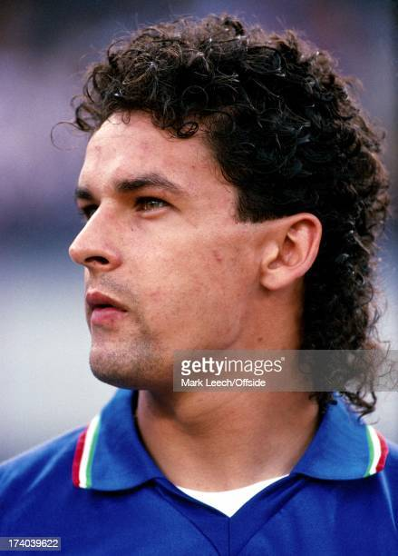World Cup 1990 3rd/4th Playoff Italy v England Portrait Roberto Baggio