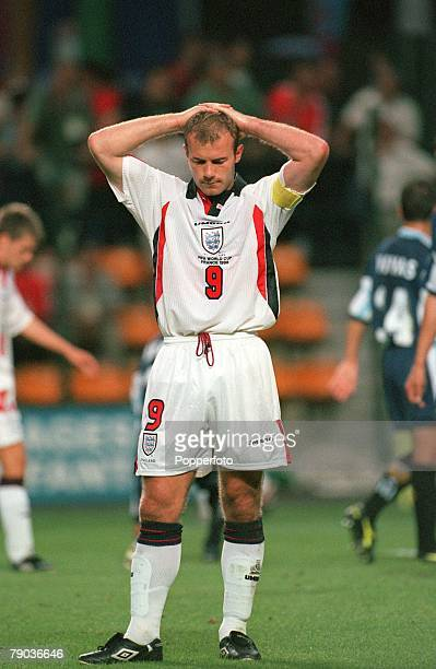 World Cup 1998 Finals St Etienne France 30th June England 2 v Argentina 2 England's Alan Shearer looks down after losing to Argentina on penalties