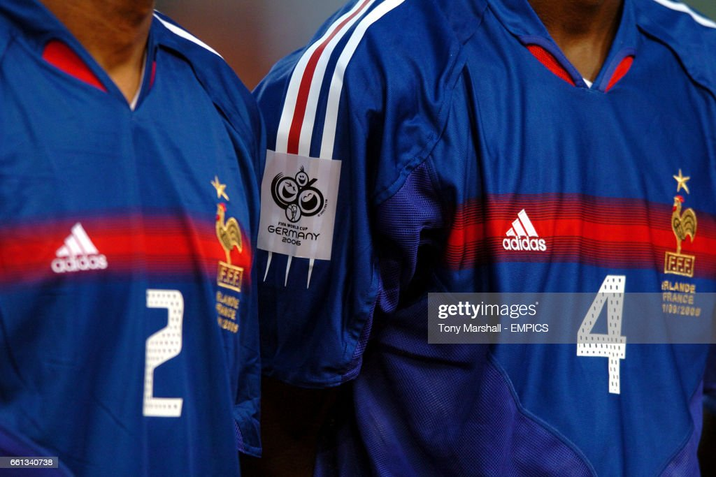 sports shoes 04764 7acd0 World Cup 2006 badge on France shirt News Photo - Getty Images