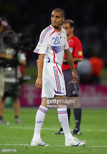 David Trezeguet of France after missing his penalty kick during the shoot out