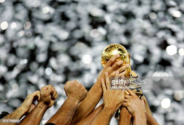 World Cup 2006 Final : Italy hold aloft the FIFA World Cup Trophy after defeating France on penalties
