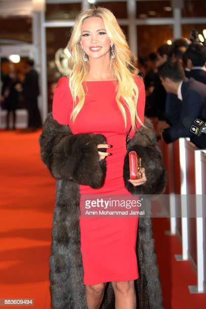 World Cup ambassador Victoria Lopyreva arrives prior to the Final Draw for the 2018 FIFA World Cup Russia at the State Kremlin Palace on December 1...