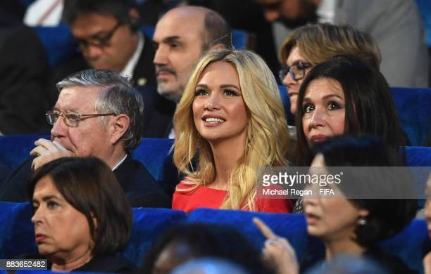 World Cup ambassador Victoria Lopyreva looks on during the Final Draw for the 2018 FIFA World Cup Russia at the State Kremlin Palace on December 1...
