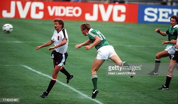 World Cup - Austria v Northern Ireland Billy Hamilton heads Northern Ireland's first goal.