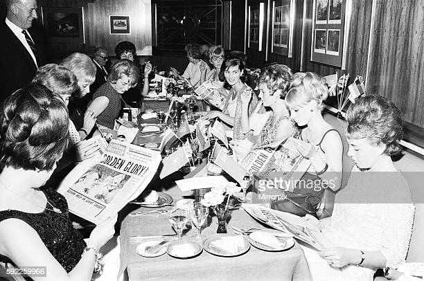 A World cup banquet was held for the victorious England team at the Royal Garden Hotel following thier victory over West Germany in the Final at...