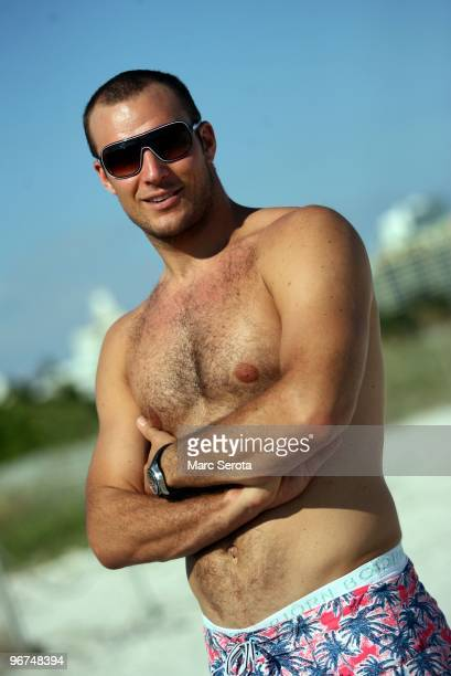 World Cup champion and Olympic skier Aksel Lund Svindal of Norway poses for a portrait on South Beach in Miami Beach Florida on November 18 2009