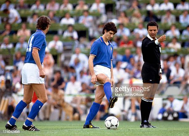 World Cup Final 1982 Italy v West Germany Paolo Rossi kicks off the 1982 World Cup Final