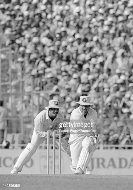 World Cup Final 1987 Australia v England Calcutta Mike Gatting reverse sweeps during his innings 64641_3A