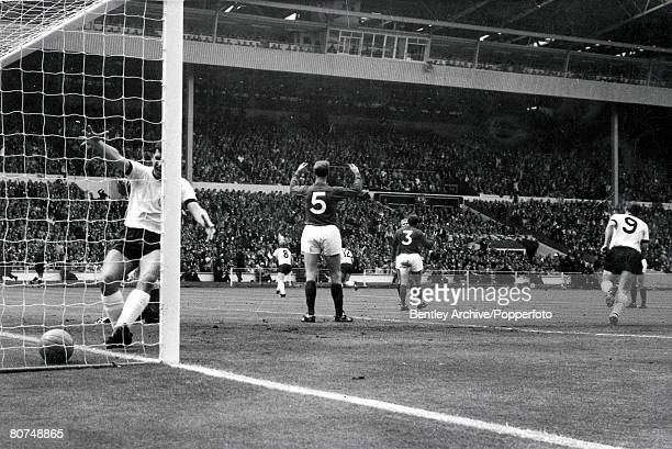 World Cup Final 30th July Wembley Stadium England England 4 v West Germany 2 England's Jack Charlton throws his hands up as West Germany take the...