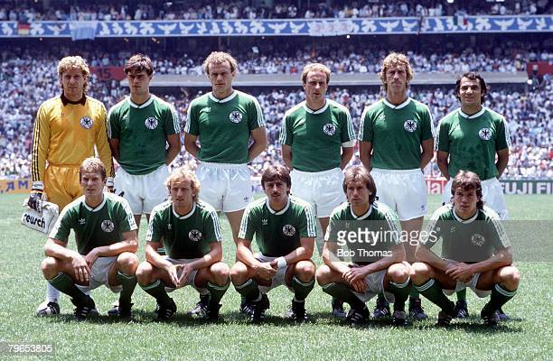 World Cup Final Azteca Stadium Mexico 29th June Argentina 3 v West Germany 2 The West German team line up before the match