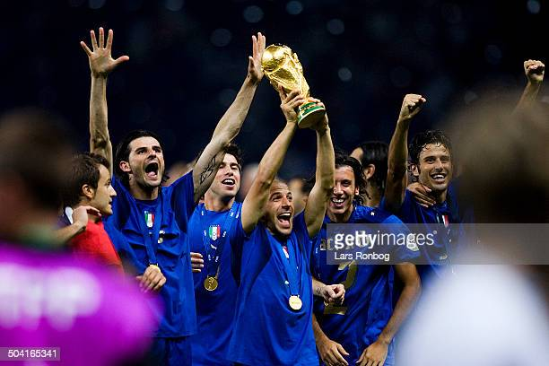 World Cup FINAL Italy vs France World Champions 2006 ITALY Alessandro del Piero with the trophy