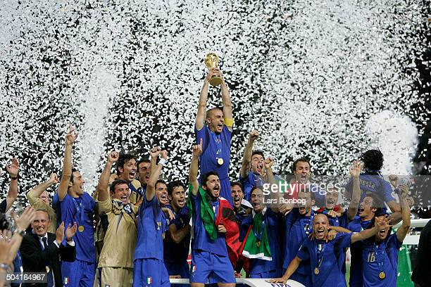 World Cup FINAL Italy vs France World Champions 2006 ITALY captain Fabio Cannavaro with the trophy