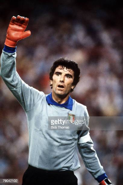 World Cup Final, Madrid, Spain, 11th July Italy 3 v West Germany 1, Italy's goalkeeper and captain Dino Zoff