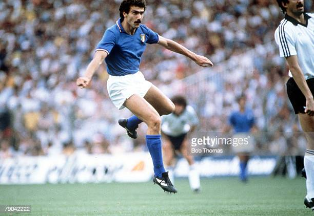World Cup Final Madrid Spain 11th July Italy 3 v West Germany 1 Italy's Giuseppe Bergomi