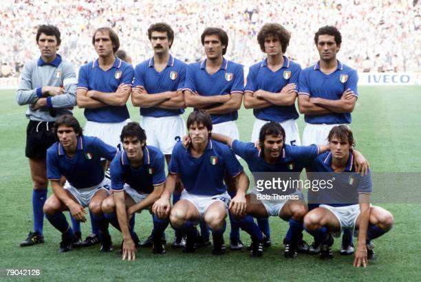 World Cup Final Madrid Spain 11th July Italy 3 v West Germany 1 The Italian team group before the match