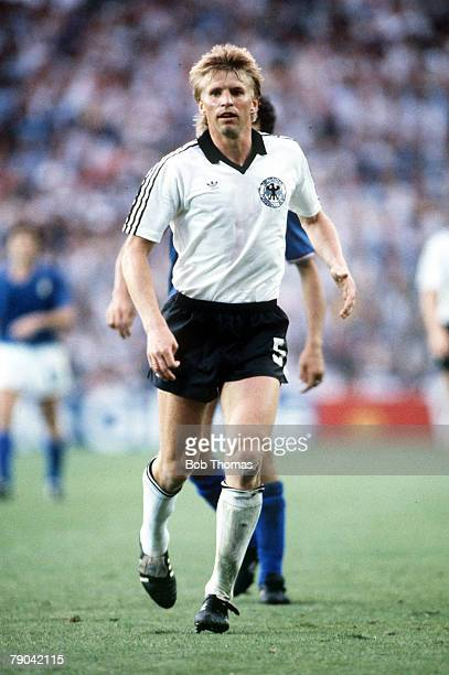 World Cup Final Madrid Spain 11th July Italy 3 v West Germany 1 West Germany's Bernd Foerster