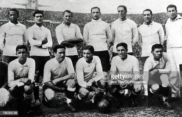 World cup Final Montevideo Uruguay Uruguay v Argentina The Uruguay team the first FIFA World Champions