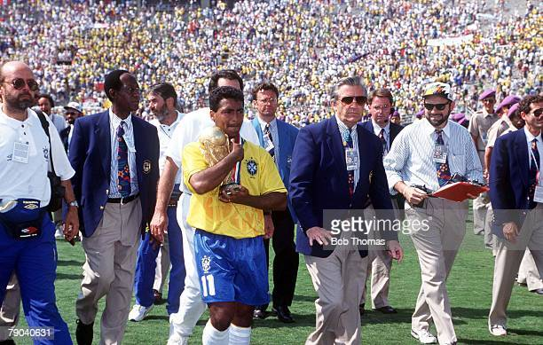 World Cup Final Pasadena USA 17th July Brazil 0 v Italy 0 Brazil's Romario holds the trophy after the match