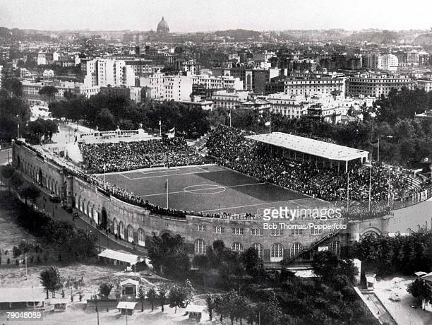 World Cup Final Rome Italy 10th June Italy 2 v Czechoslovakia 1 The scene at the Stadio Del PNF during the World Cup Final